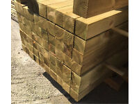 "🌳Pressure Treated Wooden/Timber Posts -New- 4""x 4""X 2.4M/3M🌳"