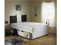 5FT KING SIZE ROYAL FULL ORTHOPAEDIC DIVAN BED AND MATTRESS - BRAND NEW - EXPRESS DROP