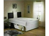 🔥🔥CHEAPEST PRICE EVER🔥🔥 DOUBLE DIVAN BED BASE WITH LUXURY SPRUNG MATTRESS & FAST DELIVERY