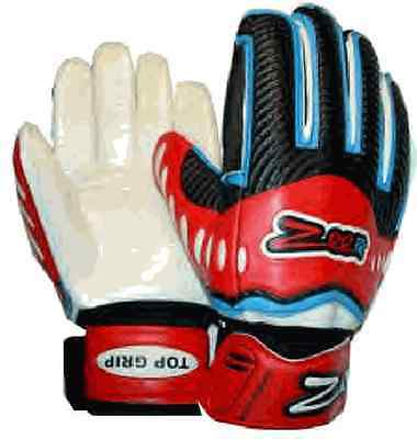 Soccer goalie Fingersave Gloves Extraordinary Grip R/B 11