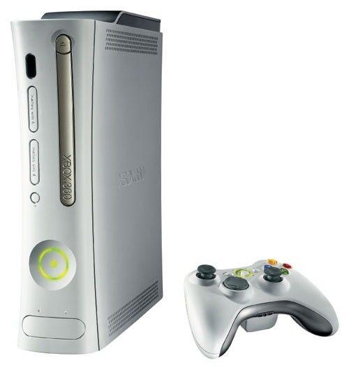 white xbox 360 console complete