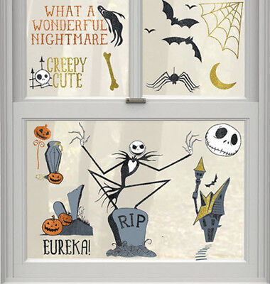 NIGHTMARE BEFORE CHRISTMAS window/glass CLINGS 17 Disney static clings JACK - Disney Halloween Party Decorations
