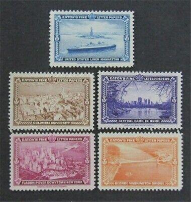 nystamps US Stamp Mint OG NH, ABNC Eaton's Essay   L30x082