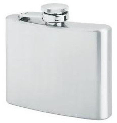 """New 12oz Stainless Steel Liquor Hip Flask with Screw Down Cap - 5"""" x 4 1/4"""" x 1"""""""