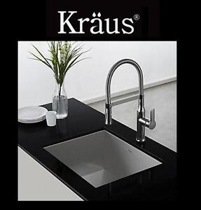 NEW KRAUS SINGLE LEVER FAUCET CHROME COMMERCIAL STYLE KITCHEN SINK FAUCET 103110698