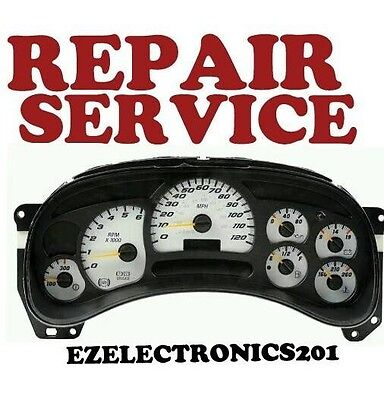 2003 to 2006 CHEVROLET TAHOE INSTRUMENT CLUSTER REPAIR SERVICE 2004 2005