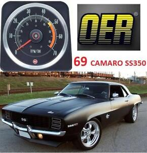 NEW OER 69 CAMARO TACHOMETER 6469381 213735249 1969 CAMARO SS350 5 BY 7 REPRODUCTION TACHOMETER AUTOMOTIVE PARTS CLASSIC