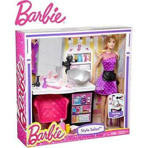 NEW MATTEL BARBIE MALIBU SALON - 102267654 - MALIBU AVENUE BARBIE DOLL PLAYSET KIDS TOYS