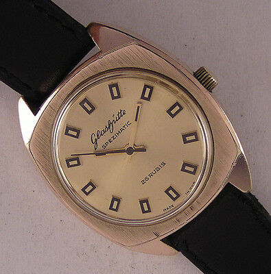Vintage GLASHUTTE SPEZIMATIC 26 Jewels ORIGINAL German Gent's Wrist One Serviced