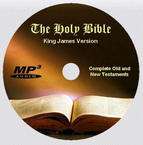 KING JAMES VERSION Bible Complete Old & New Testaments, Audio Book MP3 CD
