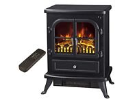 Electic fire liiving log stove effect