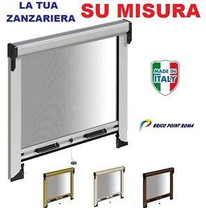 Zanzariera avvolgibile a rullo su misura per porta e finestra zanzariere italy ebay - Zanzariera a rullo per porta finestra ...