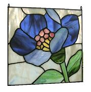 Stained Glass Panel Flowers