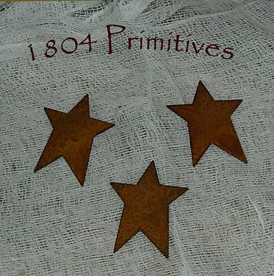 "24 ~ Primitive 1-3/4"" Rusty Tin STARS ~ Crafts on Rummage"