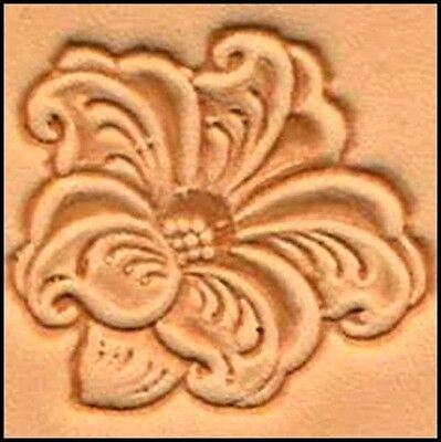 3D LILY FLOWER LEATHER STAMP 88494-00 Tandy Stamping Tool Flowers Stamps Tools
