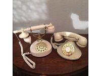 Vintage cream telephones