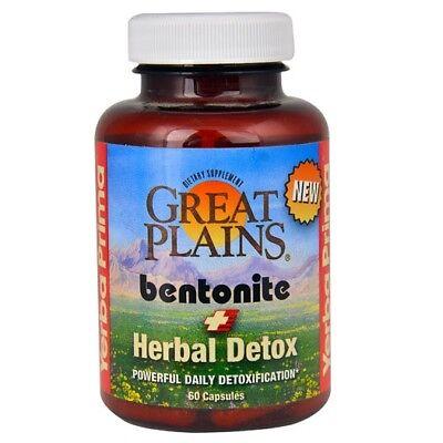 Yerba Prima Great Plains Bentonite   Herbal Detox   60 Capsules