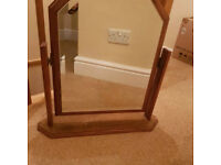 For sale used real wood mirror.