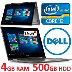 """REFURB DELL INSPIRON 2IN1 NOTEBOOK 15.6"""" DISPLAY i3-6100U 4GB 500GB HDD WIN10 TOUCH LAPTOP COMPUTER PC 107744312"""