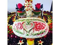 BEAUTIFUL FRESH FRUIT DISPLAYS EXCLUSIVELY HAND-CRAFTED TO MAKE ANY OCCASION EXTRA SPECIAL!!!