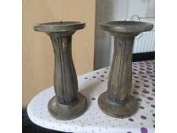 Pair Of Wooden Candle Holders BRAND NEW