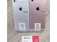 APPLE IPHONE 6S PLUS 64GB/128GB ROSE GOLD/GREY UNLOCKED WITH SHOP RECEIPT & WARRANTY