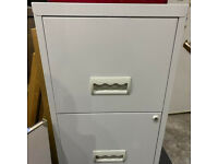 Metal Filing Cabinet Ideal for Home Office Two Drawers Foolscap A4 Files Filing