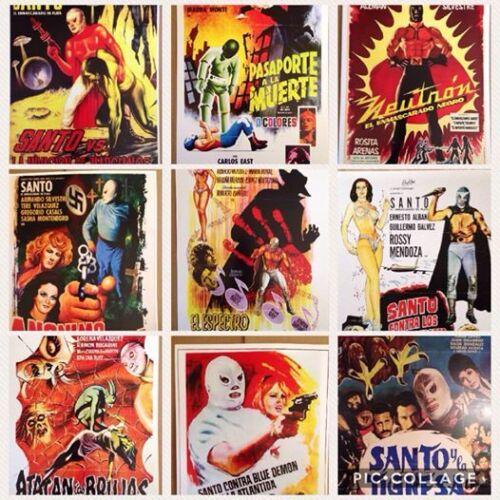 """Mexican Lucha Libre Wrestling movie repro mini poster 13""""x19"""" Horror"""