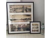 TOWER BRIDGE/LONDON photographs in dark wood PROFESSIONALLY framed BRAND NEW