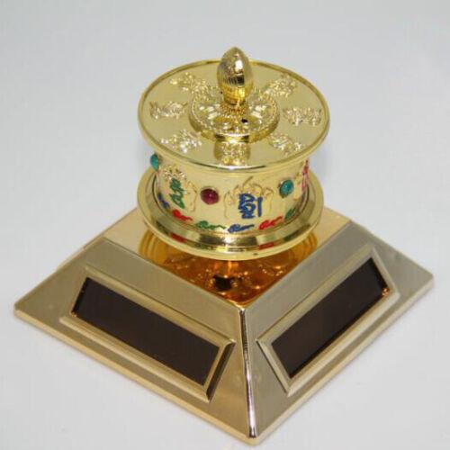 Solar Buddhist OM MANI 6 Mantra Prayer Wheel Energy FENG SHUI from Tibetan