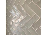 Approx 5 square metres mint green subway tiles 65mm x 200mm Brand new boxed