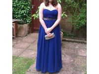 Prom dress strapless size 10.
