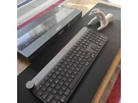 NEW Logitech Craft Advanced Wireless keyboard backlit illuminated Bluetooth, ITALIAN LAYOUT 🇮🇹