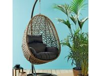 Hanging Egg Chair - Rattan With Cushion - BRAND NEW ✅ FREE SAME DAY Delivery 🚚