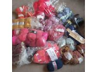 Wool Bundle, Knitting Yarns, variety of colours and sets