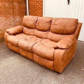 Extremely Comfy 3 Seater Brown Sofa ( local free delivery )