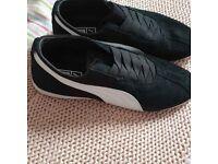 puma ladies size 6 black trainers used once