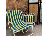 Pair of Low Deck Chairs
