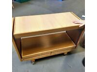 Retro serving trolley/ table on wheels
