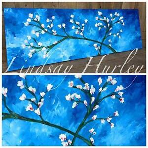 """12x36 Canvas Painting """"Almond Blossom"""""""