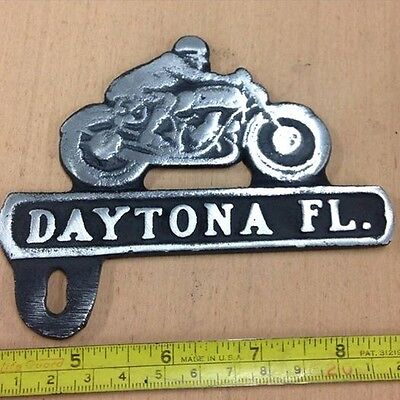 DAYTONA  LICENSE PLATE TOPPER  BIKE WEEK HARLEY CHOPPER PAN SHOVEL KNUCKLE HEAD
