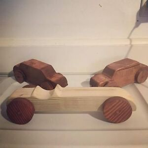 Wooden cars 12$ a car or 2 for 20$