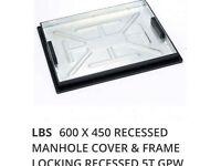 LBS 600 X 450 RECESSED MANHOLE COVER & FRAME LOCKING RECESSED