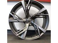 "19"" Audi 2020 RS6 style alloy Wheels & Tyres Audi A3, A4 VW MK,6,7, Golf, Caddy, Jetta, Seat"