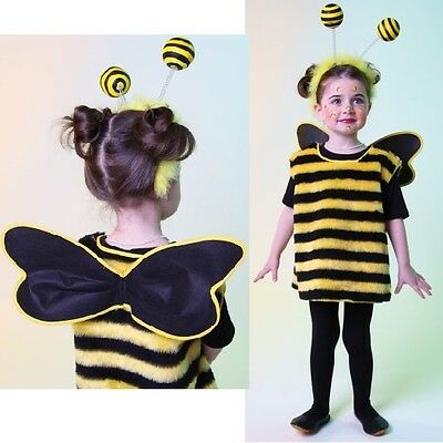 Bienchen Kinder-Kostüm mit Haarreif Bienenkostüm kleine Biene Fasching Karneval