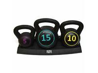 FXR Sports 5/10/15LBS Kettlebell Set