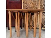 Vintage Teak Nest of Table