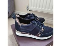 Carvela Justified Navy Trainers - Size 5
