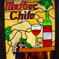 Stained Glass - Malbec Panel