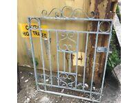 Heavy Galvanised Metal Gate